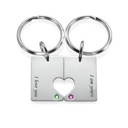 Couples Dog Tag Keychain Set product photo