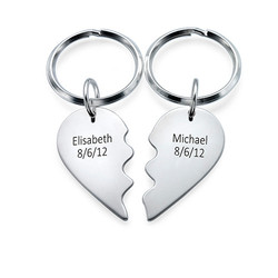 Breakable Heart Keychain in Sterling Silver product photo