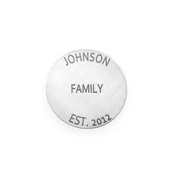 Floating Locket Plate - Silver Plated Disc with Engraving product photo