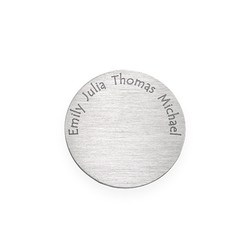 Floating Locket Plate - Disc with Engraved Names product photo