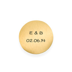 Floating Locket Plate - Engraved Gold Plated Disc product photo