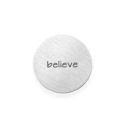 Floating Charm Plate - Engraved Silver Plated Disc product photo