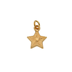 Star Charm in Gold Plating for Linda Necklace product photo