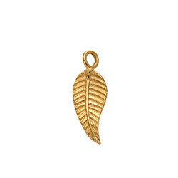 Extra Leaf Charm in Gold Vermeil for Linda Necklace product photo