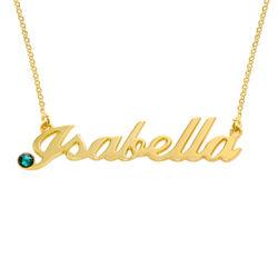 Gold Vermeil Swarovski Crystal Name Necklace product photo