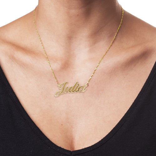 14k Gold Classic Name Necklace - 1