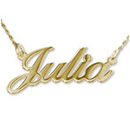 14k Gold Classic Name Necklace