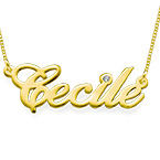 14k Gold and Diamond Name Necklace