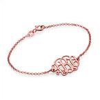 18K Rose Gold Plated Silver Monogram Bracelet / Anklet