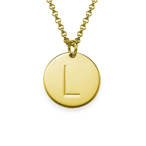18k Gold Plated Initial Charm Necklace - 1