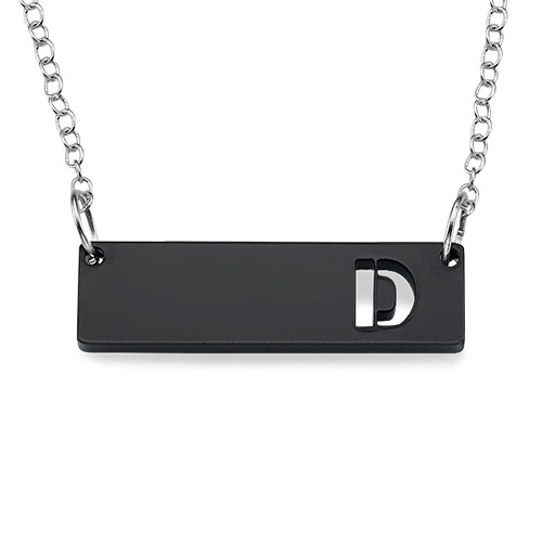 Acrylic Initial Horizontal Bar Necklace