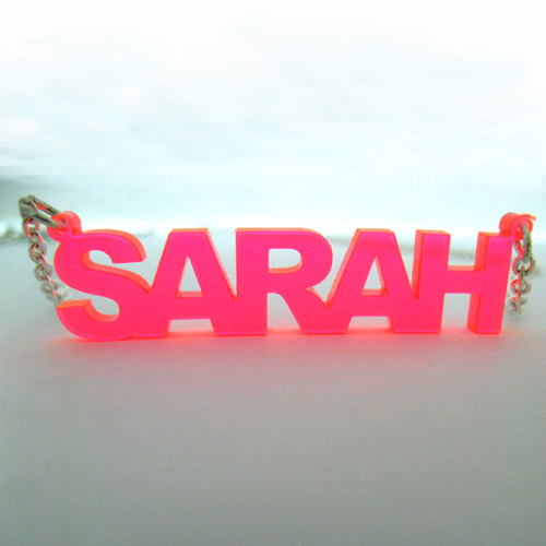 Stylish Color Name Plated Necklace - 2