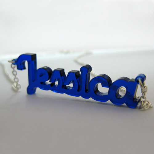 New York Style Color Name Necklace - 1