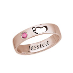 Baby Feet Ring with Inner Engraving in Rose Gold Plated
