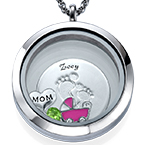Baby Feet Floating Locket