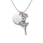 Ballerina Necklace with a Personalized Charm