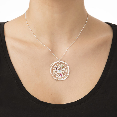 Birthstone Family Tree Necklace - My Everlasting Love Collection - 3