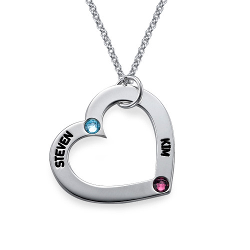 Birthstone Heart Necklace - 1