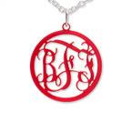 Circle Monogram Color Necklace
