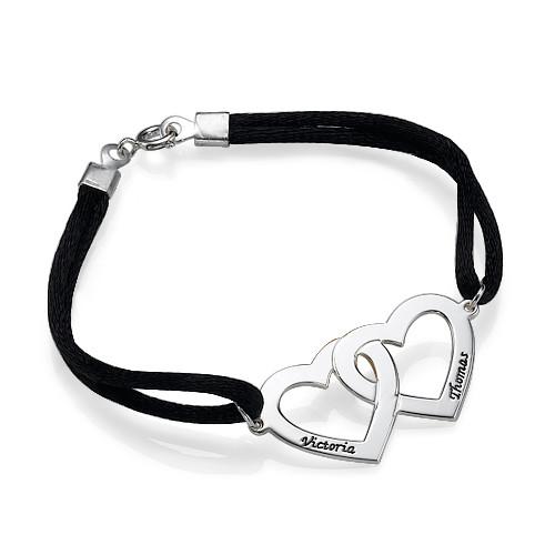 Couples Heart Charm Bracelet