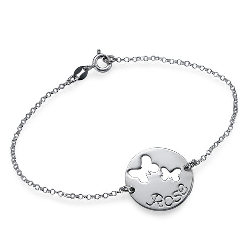 Cut Out Butterfly Bracelet in Silver
