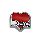 Dad Heart Charm for Floating Locket