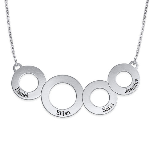 Engraved Circles Necklace