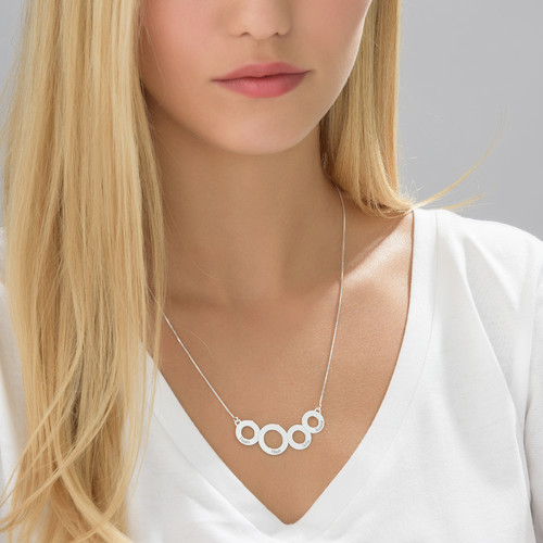 Engraved Circles Necklace - 2