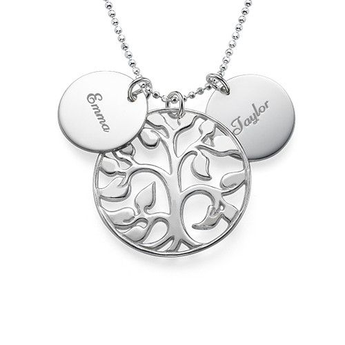 Engraved Discs Tree of Life Necklace - 1