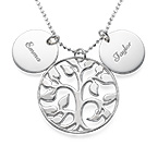 Engraved Discs Tree of Life Necklace