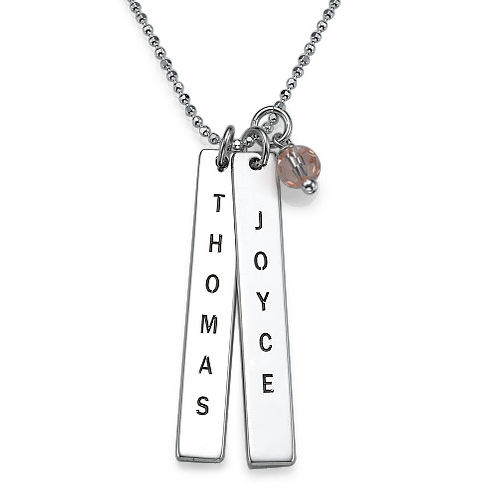 Engraved Name Tag Necklace - 1