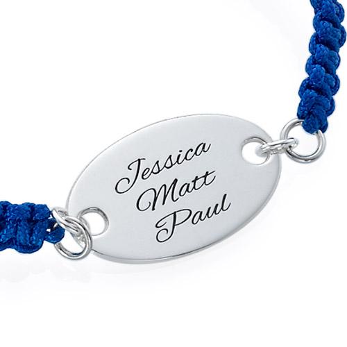 Engraved Oval Tag Bracelet - 1