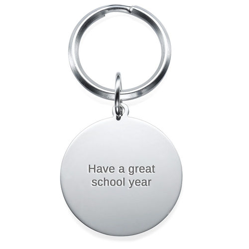 Engraved Photo Keychain - Round Shaped - 1