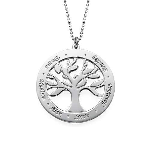 Engraved Tree of Life Necklace