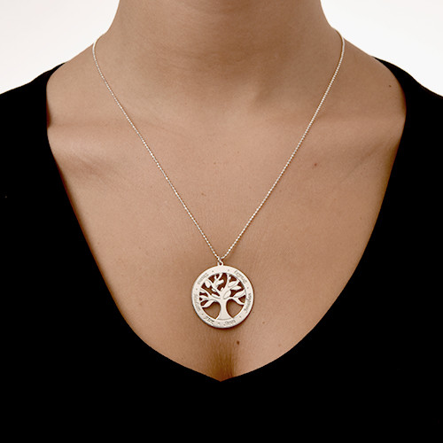 Engraved Tree of Life Necklace - 1