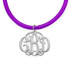 Extra Small Silver Monogram Necklace