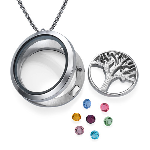 Family Tree  Floating Locket - 1
