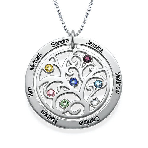 family tree birthstone necklace mynamenecklacecanada