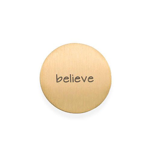 Floating Charm Plate - Engraved Gold Plated Disc