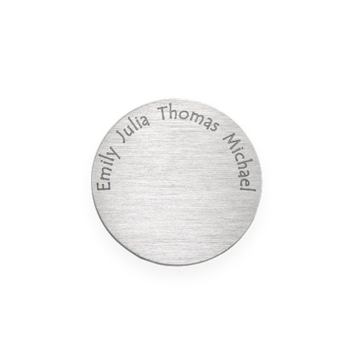 Floating Locket Plate - Disc with Engraved Names