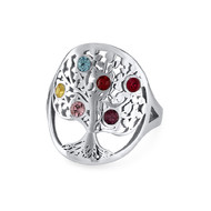 JFamily Tree Birthstone Ring