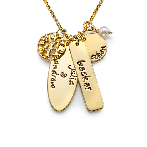 Customized Gold Plated Family Tree Jewelry
