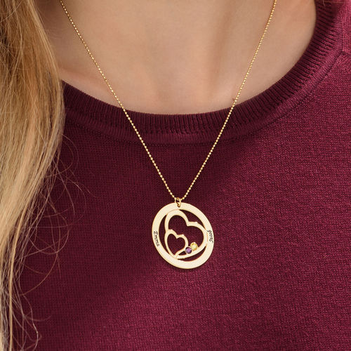 Gold Plated Intertwined Heart in Heart Necklace - 3