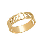 Gold Plated Roman Numeral Ring