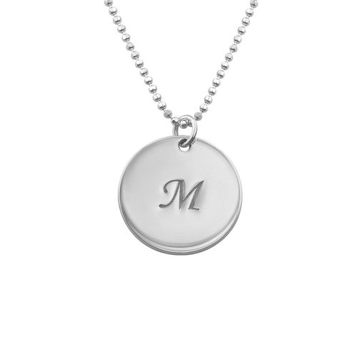 Grandma Necklace with Personalized Initial Discs - 1