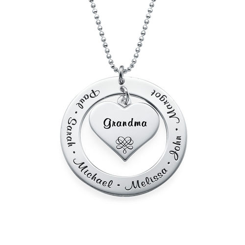 Mother or Grandmother Necklace in Sterling Silver