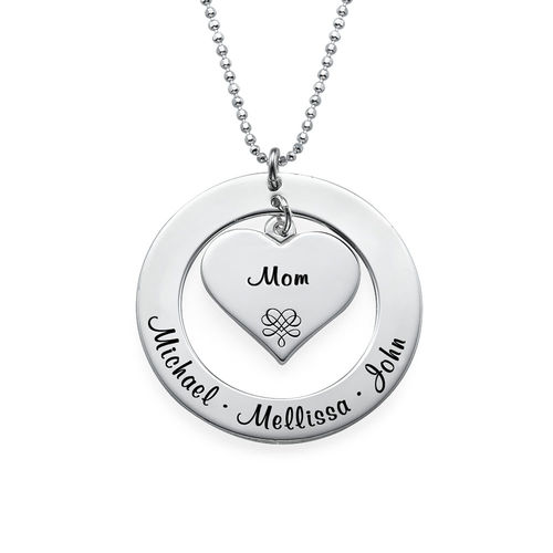 Mother or Grandmother Necklace in Sterling Silver - 1