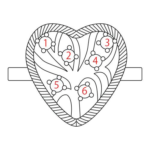 Heart Shaped Birthstone Ring - 4