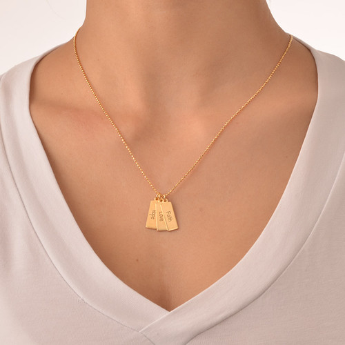 Hope Love Faith Inspirational Bar Necklace - 1