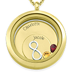 Infinite Love Floating Locket with Gold Plating